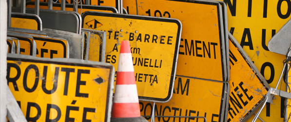 Signalisation temporaire de chantier : bientôt le 1er janvier 2014 !