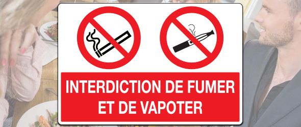 Interdiction de fumer ou de vapoter