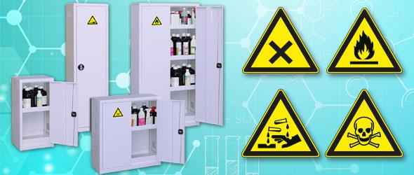 Stockez les produits dangereux en toute sécurité