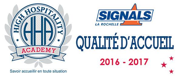 Signals lauréat de la démarche Qualité d'Accueil 2016/2017
