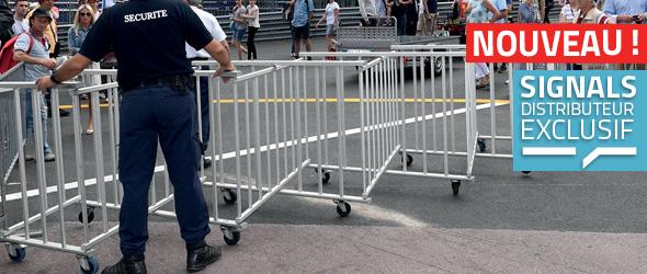 // FOCUS SUR…// Signals distributeur exclusif de barrières extensibles de sécurité !