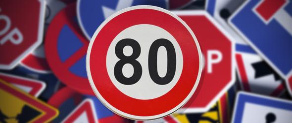 Limitation de vitesse à 80 km/h : c'est officiel !
