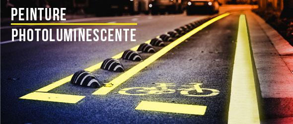 Des marquages photoluminescents pour les piétons et cyclistes