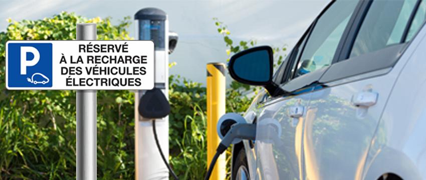 Stationnement réservé à la recharge des véhicules électriques